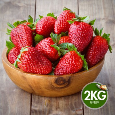 국내산 딸기 2kg(500gx4팩) / 토경재배